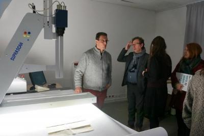 Retour en images sur la visite de la MSH de Dijon par les personnels de l'uB